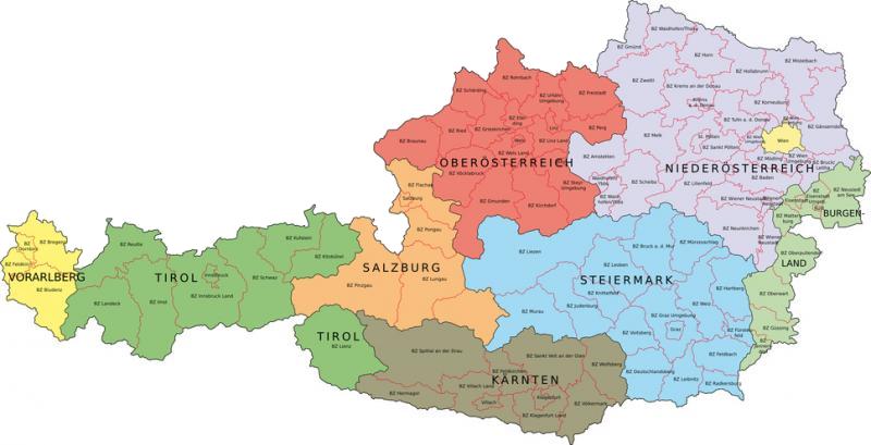 Oostenrijk kaart